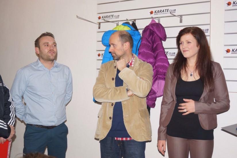 Kai Bickel, rené Killenberg und Nadine Stengel bei der Eröffnung am 09.01.2016